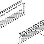 Szuflada METABOX 320H firmy Blum. Bok H=150mm, Dł.35cm, 25kg, Wysuw Częściowy, Szara Komplet Metabox 320H zawiera prowadnice korpusu prawą i lewą oraz...