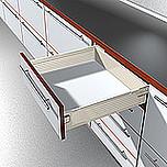 Szuflada METABOX 330K firmy Blum. Bok K=118mm, Dł.35cm, 30kg, Wysuw Pełny, Kremowa Komplet Metabox 330K zawiera prowadnice korpusu prawą i lewą oraz...