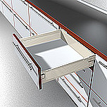 Szuflada METABOX 330K firmy Blum. Bok K=118mm, Dł.50cm, 30kg, Wysuw Pełny, Kremowa Komplet Metabox 330K zawiera prowadnice korpusu prawą i lewą oraz...