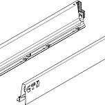 BOKI 358M Szarez zaślepkami do szuflady TANDEMBOX ANTARO  Wysokość boku: M=83 mm Do długości prowadnicy: 550 mm Regulacja wysokości: +/- 2...