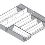 Wkład na sztućce do TANDEMBOX dł.: 450 mm Długość rzeczywista: 424 mm szerokość korpusu: 600 mm Min. szerokość: 515 mm Max. szerokość: 524 mm...