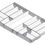 Wkład na sztućce do TANDEMBOX dł.: 500 mm Długość rzeczywista: 474 mm szerokość korpusu: 900 mm Min. szerokość: 815 mm Max. szerokość: 824 mm...