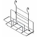 Koszyk Zawieszkowy Uchwyt Na Deskę Do Krojenia Metal Chrom Systemy relingowe świetnie wypełniają pustą przestrzeń między szafkami dolnymi a górnymi...