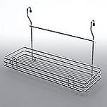 Koszyk zawieszkowy pojedynczy metal chrom-satyna  Systemy relingowe świetnie wypełniają pustą przestrzeń między szafkami dolnymi a górnymi półkami...