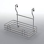 Koszyk zawieszkowy pojedynczy mały metal nikiel-satyna  Systemy relingowe świetnie wypełniają pustą przestrzeń między szafkami dolnymi a górnymi...