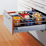 Zestaw elementów do wykonania szuflady Tandembox z hamulcem Wysokość boku D=198mm (bok M plus podwójny reling) Wysokość zabudowy 224mm kolor SZARY...
