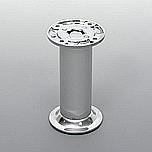 Nóżka aluminiowa okrągła fi 32mm z regulacją.  Kolor aluminium i chrom. Wysokość 12 cm  Bezpieczny zakres regulacji - ok. 2cm.