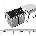 Kosz na śmieci potrójny JC601M do szafki 40 z mocowaniem frontu i prowadnicami kulkowymi pełnego wysuwu. Idealne zastosowanie do kuchni w dowolnym miejscu....