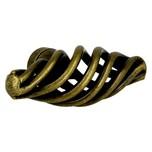Gałka w ciekawym kształcie, renomowanej firmy Siro Wykonana z metalu w pokryciu stary mosiądz Kolekcja Cage doskonale sprawdza się w meblach salonowych....