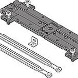 Synchronizator wysuwu Z55 do szuflad Tandembox TIP-ON. Do szerokości wewnętrznej korpusu od 808 do 870mm  Produkowany w 13 długościach dla...