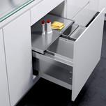 Kosze do sortowania odpadów EKO Liner Pojemność 2x10L + 1x22L Do korpusu o szerokości 60cm  Do korpusu o głębokości wewnętrznej 464 mm Wysokość...