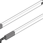 Relingi podłużne kwadratowe ZRG.337RS do szuflad Tandembox ANTARO Rodzaj relingu: reling podłużny Kolor / Powierzchnia: SZARY RAL9006 Do długości...
