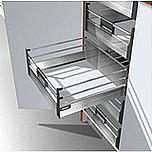 Zestaw elementów do wykonania szuflady RELING PODWÓJNY D Wewnętrznej z hamulcem BLUMOTION Wysokość boku D=198mm (M z 2 relingami podłużnymi )...