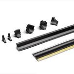 Listwa przyblatowa samoprzylepna firmy Rehau kolor - czarny ZWIJANA, sprzedaż w mb Maksymalna długość 50mb  UWAGA! Powyższa cena dotyczy 1mb produktu!