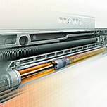 Kryta prowadnica wałkowa MOVENTO 760H firmy Blum do szuflad drewnianych. Z HAMULCEM Nowy system prowadnic firmy Blum zaprojektowany z myślą o często...