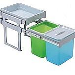Ekologiczny kosz na śmieci podwójny TANK z prowadnicami kulkowymi pełnego wysuwu.  Idealne zastosowanie do kuchni w dowolnym miejscu. Umożliwia...