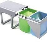 Ekologiczny kosz na śmieci podwójny EKKOFRONT 2 z prowadnicami kulkowymi pełnego wysuwu.  Idealne zastosowanie do kuchni w dowolnym miejscu....