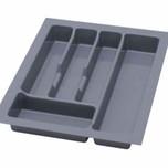 UNI wkład do szuflady 40 wykonany z trwałego i estetycznego tworzywa w kolorze metalicznym o gładkiej fakturze. Pozwala optymalnie wykorzystać przestrzeń...