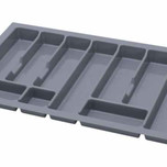 UNI wkład do szuflady 80 wykonany z trwałego i estetycznego tworzywa w kolorze metalicznym o gładkiej fakturze. Pozwala optymalnie wykorzystać przestrzeń...