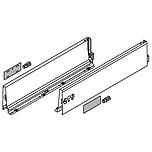 BOKI 358K Jedwabiściebiałez zaślepkami do szuflady TANDEMBOX ANTARO Wysokość boku: K=115 mm Do długości prowadnicy: 500 mm Regulacja...