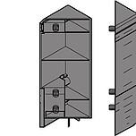 INTIVO mocowanie frontu i ściany tylnej szuflady narożnej wysokiej 'D', brunatnoczarne ZSF.535E Mocowanie frontu do szuflady TANDEMBOX INTIVO Rodzaj...