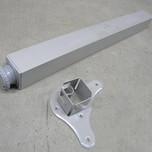 Wyrób umożliwiający zmontowanie stolika lub podparcie blatu kuchennego drewnianego lub z płyty. Noga metalowa kwadratowa, kolor aluminium. Rozmiar...