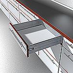 Zestaw elementów do wykonania szuflady Tandembox Plus bok K=115mm wysokość/550mm długość prowadnic - BIAŁA.  Do samodzielnego montażu. Bardzo...