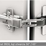 """Zawias automatyczny z techniką montażu na prowadnik typu """"clip"""" Klasyfikacja jakości zgodnie z EN 15570, poziom 2 Średnica puszki 35 mm..."""