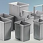 Pojemnik na odpady 7l do systemu koszy InnoTech Pull/ArciTech  Wykończenie powierzchni-kolor szary Wykonany z...