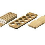 Uchwyt do stojących pojemników na przyprawy do szuflad InnoTech dedykowany do wkładów OrgaTray 420, 430, 440 i 480 wykonany z drewna, Buk...
