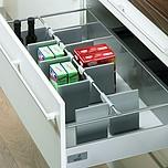 OrgaStore 100 organizacja wewnętrzna do szuflad z relingiem do korpusu o szer. 600 mm wykonany z tworzywa sztucznego, w kolorze...