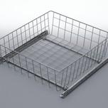 Szuflada MD wewnętrzna do szafki 60 wysokość 150mm z prowadnicami rolkowymi częściowego wysuwu Metal Lakier efekt chrom Szuflady do mebli są dostępne w...