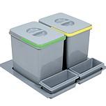 Pojemnik na odpady PRACTIKO 60 podwójny (2x15l) tworzywosztuczne  Idealne zastosowanie do kuchni w dowolnym miejscu. Umożliwia wstępną segregację...