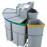 Kosz do sortowania odpadów Eko Center  Pojemność2x19l + 3x9l Do korpusu o szerokości 50cm  * kosze współpracują z drzwiczkami...