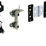 Zestaw zawiera wszystkie niezbędne elementy do 1 drzwi składanych 2-skrzydłowych lewych Profil jezdny i prowadzący należy zamówić oddzielnie Komplet...