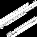 750.4001B Prowadnica korpusu LEGRABOX z BLUMOTION zsynchronizowany system posuwu Pełny wysuw dł.: 400 mm Obciążenie dynamiczne: 40 kg Materiał: stal...