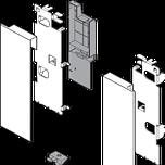mocowanie frontu ZI7.3CS0 Typ uchwytu frontu: do szuflady wewnętrznej z relingiem System szuflad: LEGRABOX Warianty mocowania frontu: wys. C Materiał: stal...