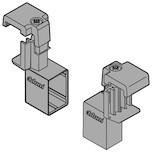 Uchwyt do montażu relingu poprzecznego ZRG.1104Q,przeznaczony do systemu szuflad Tandembox Antaro.  Uchwyt wykonany z tworzywa sztucznego w...