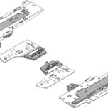 T60B3560 Jednostka TIP-ON Blumotion z zabierakiem Typ L5 Całkowita waga szuflady=25-65 kg, lewa/prawa dł.: 350-650 mm Droga uwolnienia: 1 mm...